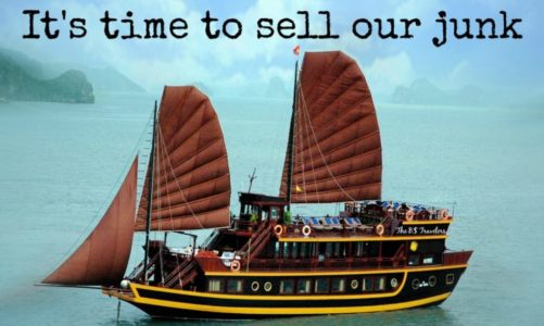 Its time to play….Who wants to buy our junk?
