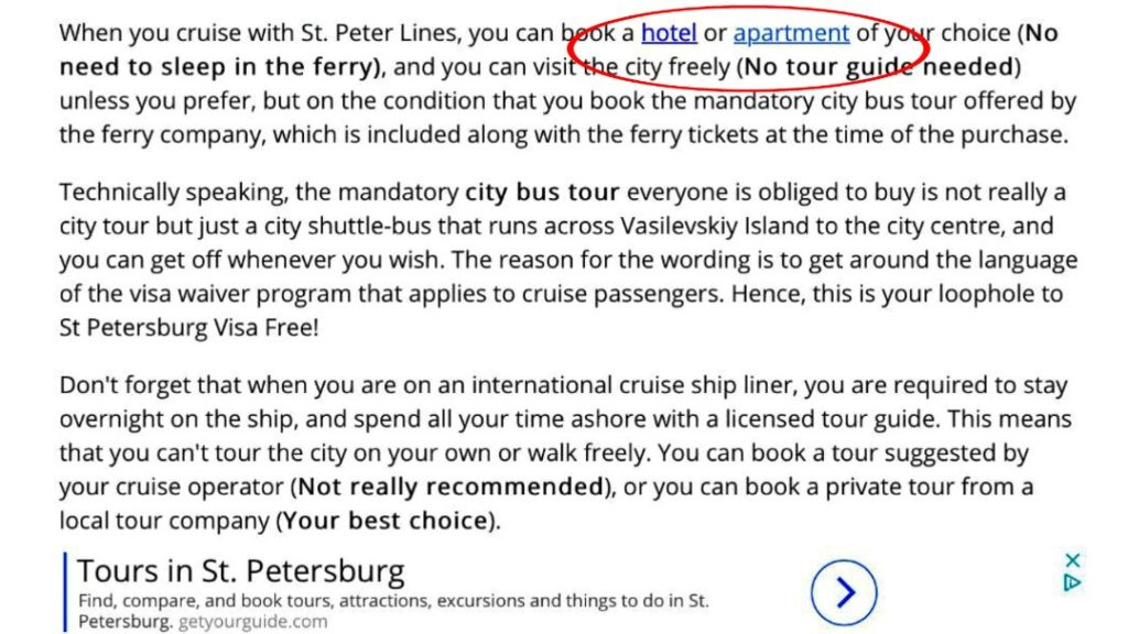 How to Visit Russia Visa-Free   St  Peter Line Ferry and the