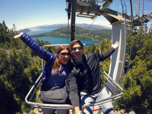 Bariloche chair lift scenic viewpoint patagonia