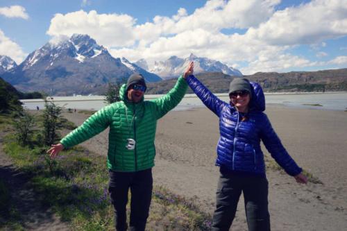 Lago de Grey Patagonia Torres Del paine
