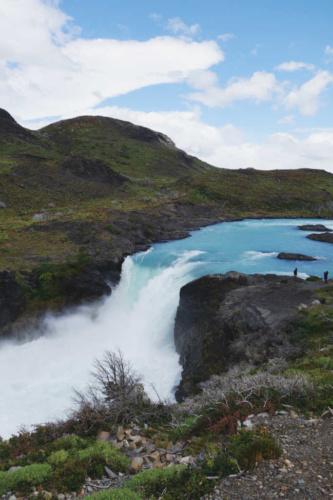 Patagonia Torres Del Paine National Park Salto Grande Waterfall