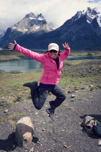 Patagonia beautiful jumping torres del paine