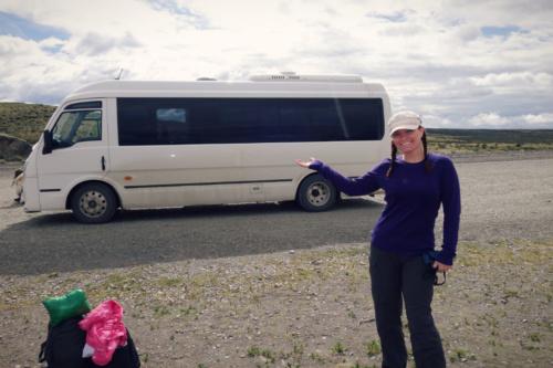 pataonia torres del paine day tour bus